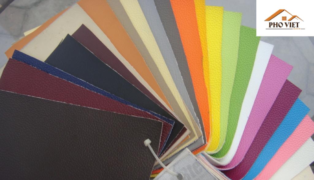 Chất liệu da mang nhiều màu và sự lựa chọn .